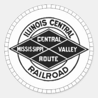Autocollants vintages de logo de chemin de fer