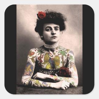 Autocollants vintages de photographie de femme