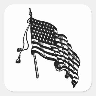 Autocollants vintages et rétros de drapeau