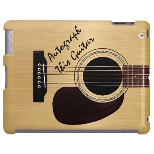 Autographe de coutume de guitare acoustique