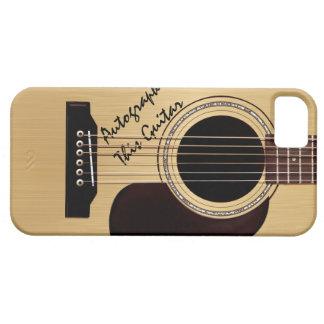 Autographe de coutume de guitare acoustique coques Case-Mate iPhone 5