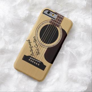 Autographe de coutume de guitare acoustique coque iPhone 6 barely there