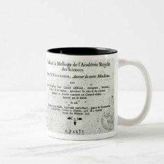 Automates, illustration du frontispice mugs à café