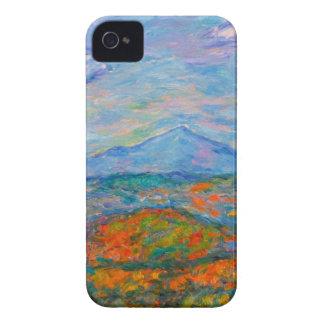 Automne bleu brumeux de Ridge Coque iPhone 4