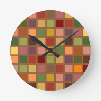 Automne carré horloge ronde