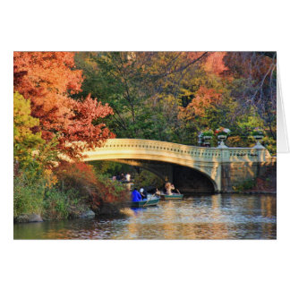 Automne dans le Central Park : Chapeaux en paille Carte De Vœux