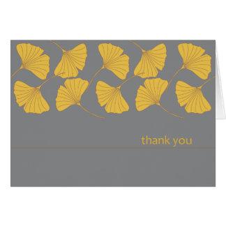 Automne de carte de remerciements de Ginkgo