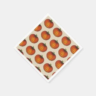 Automne orange de thanksgiving de Halloween de Serviettes Jetables
