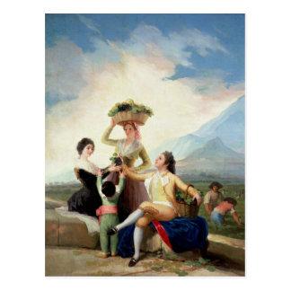 Automne, ou la récolte de raisin, 1786-87 cartes postales