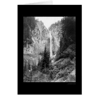 Automnes de comète, le mont Rainier, WA 1922 Carte De Vœux