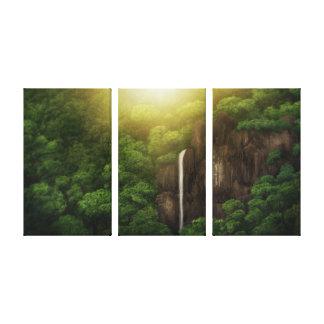 Automnes de jungle - copie enveloppée de toile (3  toile tendue