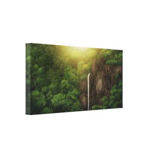 Automnes de jungle - copie enveloppée de toile toiles tendues sur châssis