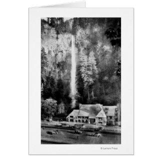 Automnes de Multnomah et photographie de loge Carte De Vœux