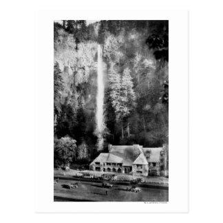 Automnes de Multnomah et photographie de loge Carte Postale