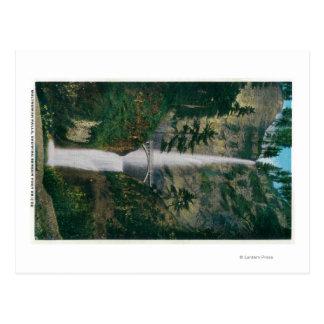 Automnes de Multnomah et pont 2 de pied de Benson Carte Postale