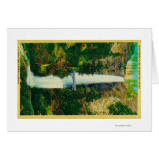 Automnes de Multnomah et pont de pied de Benson Carte De Vœux