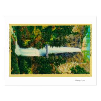 Automnes de Multnomah et pont de pied de Benson Cartes Postales