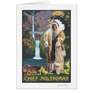 Automnes de Multnomah, OregonChief Multnomah Carte De Vœux