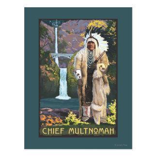 Automnes de Multnomah, OregonChief Multnomah Carte Postale