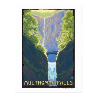 Automnes de Multnomah, OregonMaiden des automnes Carte Postale