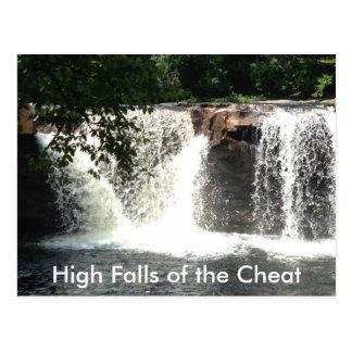 Automnes élevés des cartes postales de cascade de