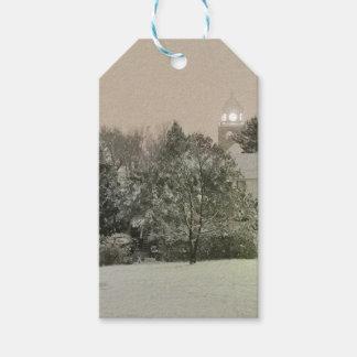 Automnes en cristal, étiquettes de cadeau d'hiver