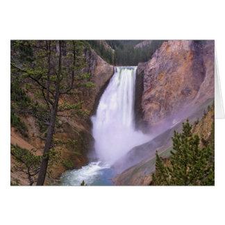 Automnes inférieurs de Yellowstone, canyon grand Carte De Vœux