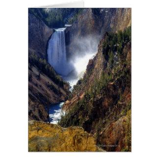 Automnes inférieurs de Yellowstone, ressortissant Carte De Vœux
