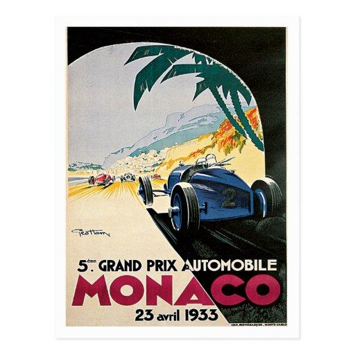 Automobile du Monaco Grand prix Carte Postale