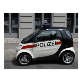 Automobile intelligente de Polizei Carte Postale