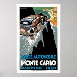 Automobile Monte Carlo de Rallye Affiche