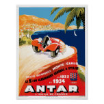 Automobile Monte Carlo de Rallye Posters