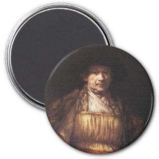 Autoportrait 1658 magnet rond 7,50 cm
