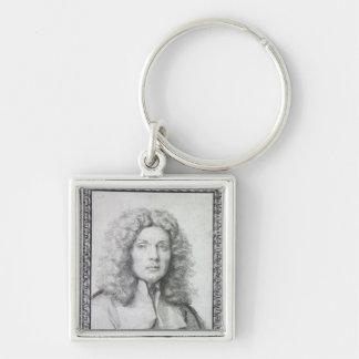 Autoportrait, 1684 porte-clé carré argenté