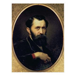 Autoportrait, 1870 carte postale