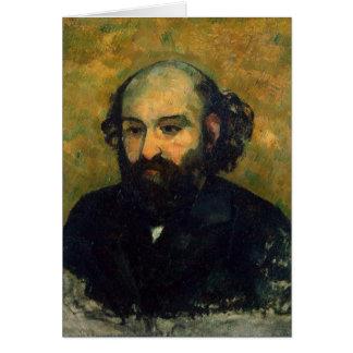 Autoportrait, 1880-81 carte de vœux