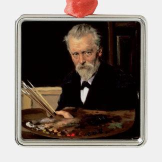 Autoportrait, 1905 ornement carré argenté