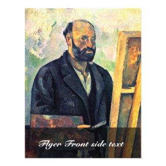 Autoportrait avec la palette par Paul Cézanne Prospectus Personnalisés