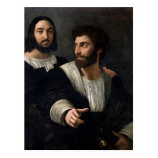 Autoportrait avec un ami carte postale