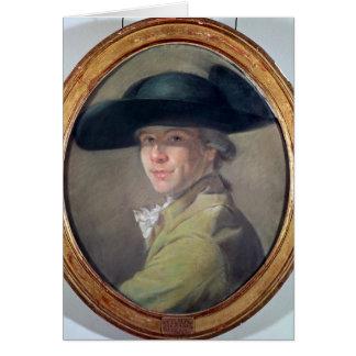 Autoportrait, c.1780 carte de vœux