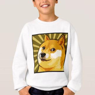 Autoportrait carré de doge de Meme de doge Sweatshirt