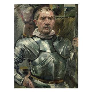 Autoportrait dans l'armure, 1914 carte postale