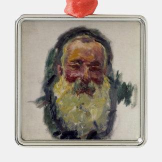 Autoportrait de Claude Monet |, 1917 Ornement Carré Argenté