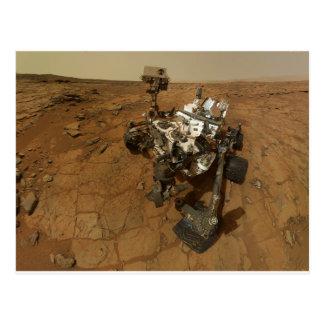 Autoportrait de curiosité de Mars Carte Postale