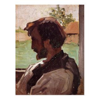 Autoportrait de Frederic Bazille- au Saint-Saveur Carte Postale