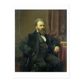 Autoportrait de l'artiste, 1869 (huile sur la toil carte postale