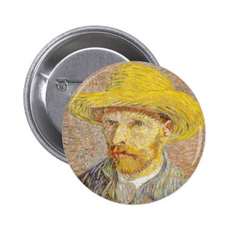 Autoportrait de Van Gogh avec le bouton de chapeau Pin's