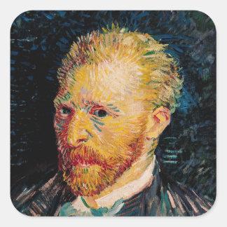 Autoportrait de Vincent van Gogh |, 1887 Sticker Carré