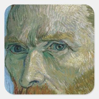 Autoportrait de Vincent van Gogh |, 1889 Sticker Carré