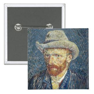 Autoportrait de Vincent van Gogh | avec le chapeau Badge